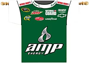 NASCAR Dale Earnhardt Jr. #88 Firesuit Banner 34-by-30-Inch with Pole Sleeve by BSI