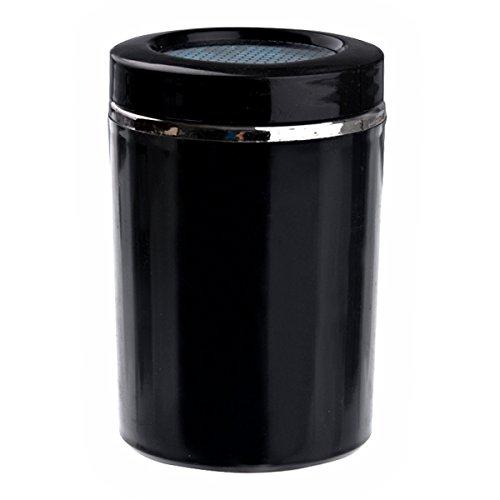 Foxnovo Portable Cylinder Shaped Blue Led Light Auto Car Cigarette Ashtray Cup Holder (Black) front-371985