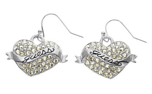 Guess Damen-Ohrhänger Metall mit Herz UBE11001 thumbnail