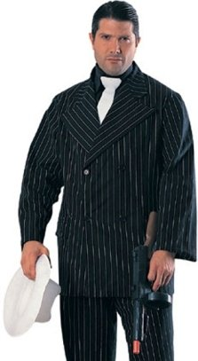 Adult Mafia Gangster Pinstripe Mens Halloween