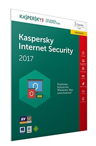 Kaspersky Internet Security 2017 5 Geräte Upgrade - [Online Code] (Frustfreie Verpackung)