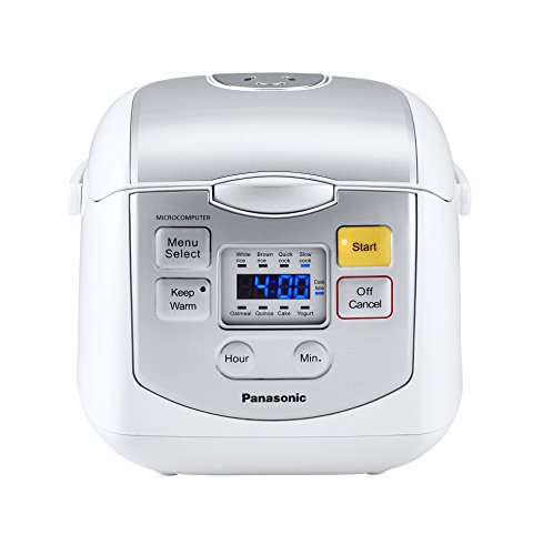 Panasonic 4 Cup (Uncooked) Microcomputer Controlled Rice Cooker, White/Silver (Rice Cooker 8 Cup Panasonic compare prices)