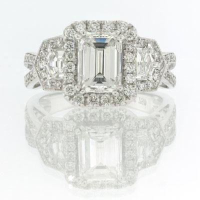 2.75ct Emerald Cut Diamond Engagement Anniversary
