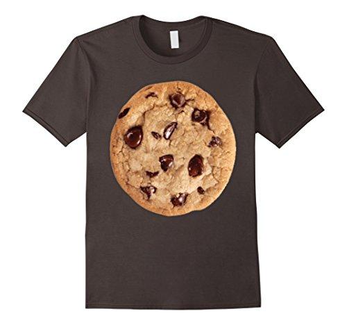 Men's Cookie last minute Halloween funny matching costume tshirt 3XL Asphalt (Last Minute Halloween Costume)