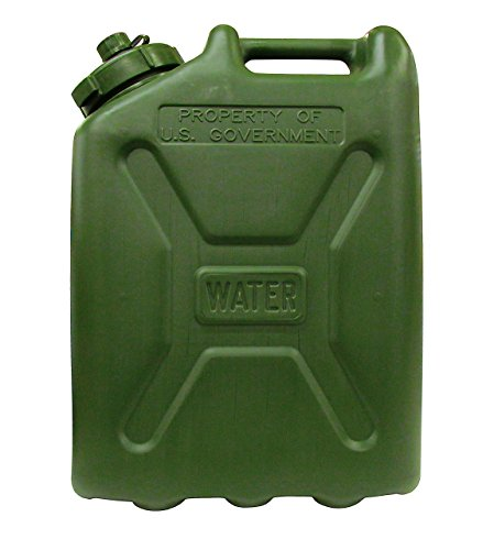 USGI Plastic Water Can, 5 Gallon, Green (Military Jerry Can compare prices)