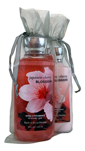 Bath & Body Works Gift Set Bundle of Shower Gel and Body Lotion (Japanese Cherry Blossom)
