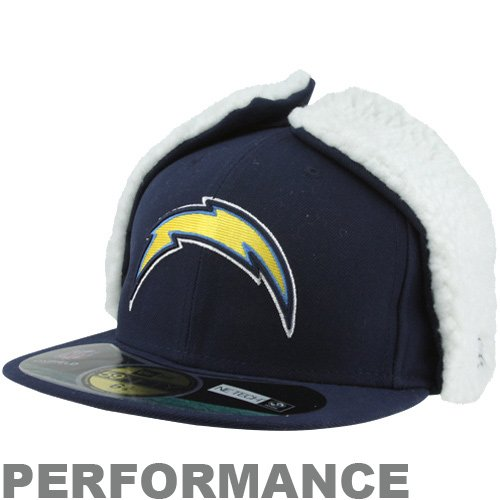 New Era San Diego Chargers On-Field Dog Ear 59FIFTY Fitted Performance Hat - Navy Blue at Amazon.com