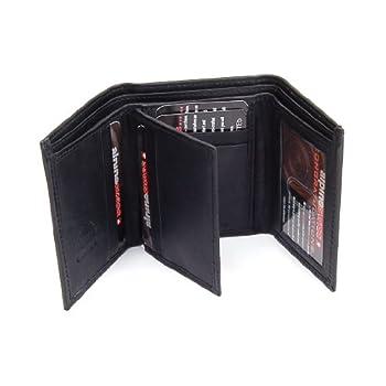 Men's Deluxe Trifold LeatherWalletBy Alpine SwissColor: BlackMSRP:$45.00Product Features:Measures:4 1/8