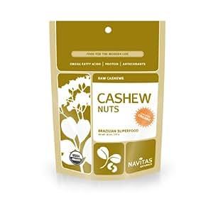 Navitas Naturals Organic Raw Cashews,  1 Pound  Pouch (Pack of 2)