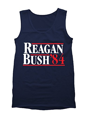 Ronald Reagan Bush '84 Cool Retro Tank Top Size M