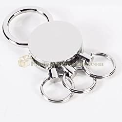 Silver Plated Valet Key Ring
