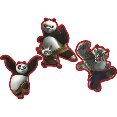 Kung Fu Panda Wall Decoration 3ct