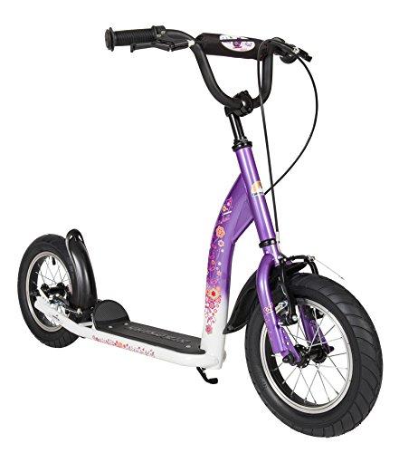 bikestarr-305cm-12-pouces-prime-trottinette-patinette-enfants-couleur-lilas-blanc