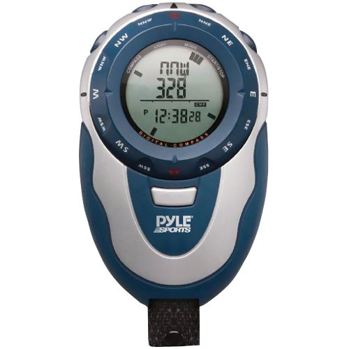 Pyle Sports PSHTM24  Handheld Track Watch with Digital Compass, 42 Laps Chronograph Memory, Pacer