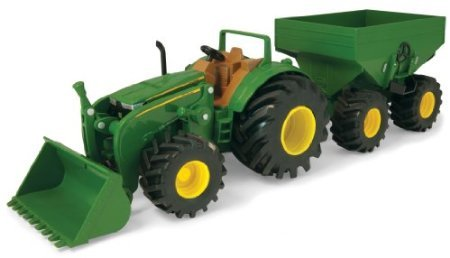 Ertl Monster Treads Tractor With Wagon front-636246