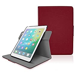 iPad Air 2 Case, Apple iPad Air Case Cover, rooCASE ORB 360 Rotating Ultimate Leather PU Folio Stand Case Smart Cover Auto Sleep/Wake - Red