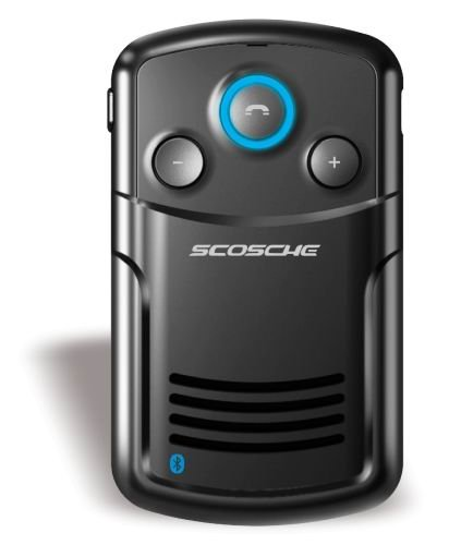 Scosche Solchat Solar Powered Bluetooth Speakerphone With Voice Announce