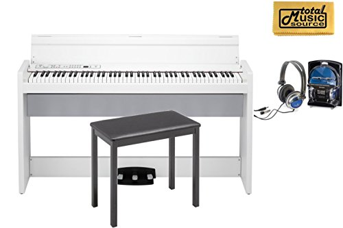 Why Should You Buy Korg LP-380 Lifestyle Digital Piano, White, FREE Headphones And Polish Cloth