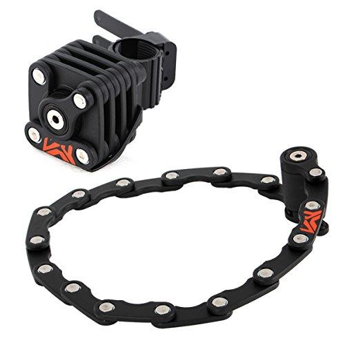 DOPPELGANGER フォールディングブレードロック 手のひらサイズ折りたたみロック 全長640mm [専用ブラケット 対応径:φ約25~45mm] スチール製ブレード DKL290-BK