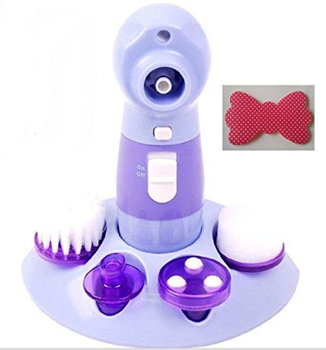 FUNMAKE 電動洗顔ブラシ 多機能 4 in 1 男女兼用 毛穴ケアキット + 前髪とめーるリボン型セット TRー3