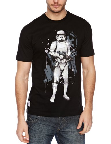 Addict Icons Series 4 By Mitch - Storm Trooper Printed Men's T-Shirt Black Small