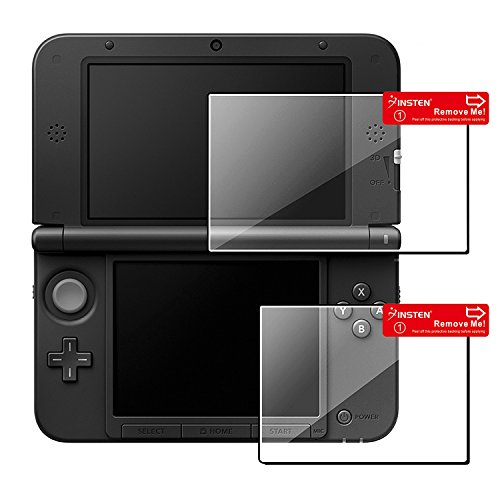 Insten 1 Set Top/ Bottom LCD Screen Protector compatible with Nintendo NEW 3DS XL / NEW 3DS LL / 3DS XL / 3DS LL (Gameboy Advanced Games Used compare prices)