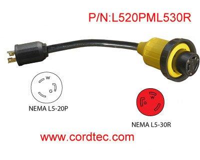 20a 125v Plug 125v Locking Plug(l5-20p
