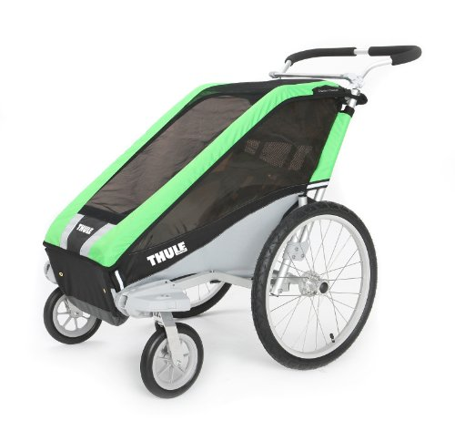 Thule Chariot Cheetah Double Stroller - Green back-1021806