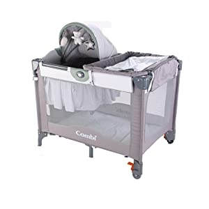 Combi Travel Solutions Play Yard Grey Gingham