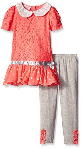 Young Hearts Little Girls' 2 Piece Dress