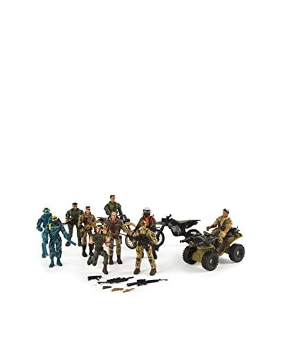 Color Baby Set 10 Figuras Militares Con Vehículos Special Force Unit
