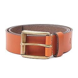 Wolux Men's Tan Leather Belt Medium