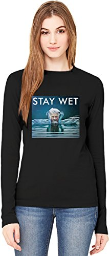The Life Aquatic Stay Wet Lorenz Tee Stay Gold Dope Trill T-Shirt da Donna a Maniche Lunghe Long-Sleeve T-shirt For Women  100% Premium Cotton  DTG Printing  XX-Large