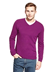 XXXL Cashmilon™ V-Neck Jumper