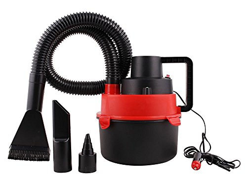 Red Portable 12V Wet & Dry Mini Car Vacuum Boat Canister Cleaner Inflation Pump (Shark Battery Operated compare prices)