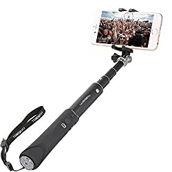 Luxebell Bluetooth Selfie Stick Extendable Self-portrait Monopod for iPhone 6s 6 Plus 5s, Samsung Galaxy S6 S5, Android and All Other Smartphones