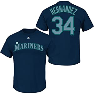 Felix Hernandez Seattle Mariners #34 MLB Mens Player T-Shirt by Majestic Apparel