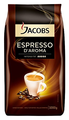 Jacobs Espresso d Aroma, Whole Coffee Beans for Machines, Intensity 5, 1000g (Jacobs Coffee Whole Bean compare prices)
