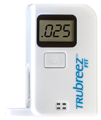 TruBreez FIT Keychain Breathalyzer, Portable Keyring Breath Alcohol Tester (White)