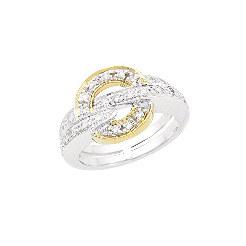 0.6 Cts FullcutDiamond Ring in Sterling Silver & Real Diamonds