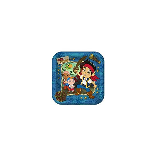 Jake & The Neverland Pirates Lunch Plates - 8 Count - 1