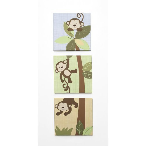 Babies R Us By Design Monkey 3-Piece Wall Art