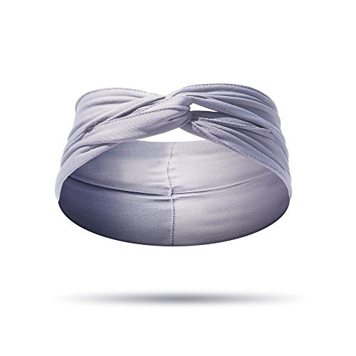 ELAN - Headband for Women - High Quality Material, Sweat Wicking, Best Looking Head Band for Fashion, Yoga and Exercise - Love It Guaranteed! (Grey)
