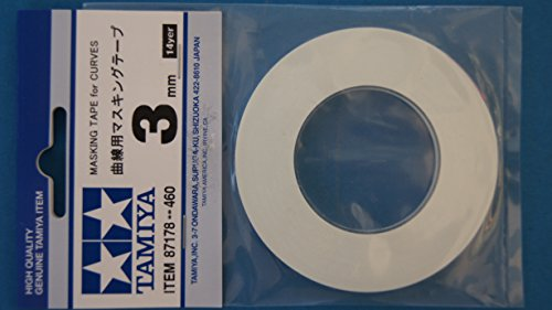 タミヤメイクアップ材シリーズ No.178 曲線用マスキングテープ 3mm 87178
