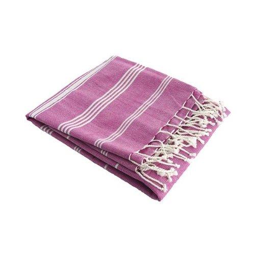 Hamamtuch Saunatuch Strandtuch XXL pink 100% GOTS-zertifizierte Bio-Baumwolle 100x200 cm