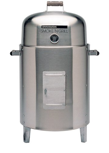 Brinkmann 810-5304-4 Smoke'N Grill Electric Smoker and Grill, Stainless Steel