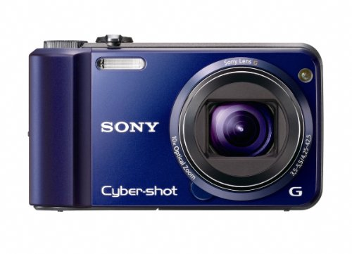 Sony DSCH70L Cyber-shot Digital Still Camera - Blue (16.1MP, 10x Optical Zoom) 3 inch LCD