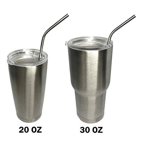 Uniqhia Extra Long Stainless Steel Drinking Straws (10.5\u0026#39;\u0026#39;), Set ...