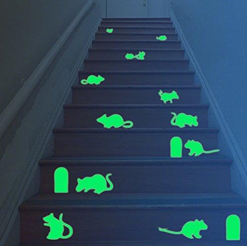 toxtech-vinilo-brillo-en-la-oscuridad-de-navidad-creativo-bricolaje-raton-rata-hueco-escalera-piso-e