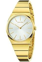 Calvin Klein Supreme Silver / Gold Stainless Steel Quartz Analog Women's Watch K6C2X546